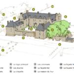 Carte descriptive détaillée du Chateau de Kergroadez